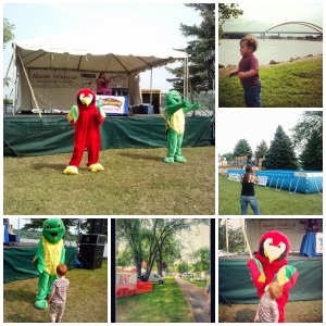 Kid Friendly Activities at Rivertown Days Festival in Minnesota, including the Zinghoppers