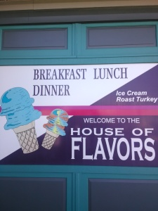 House of Flavors Sign