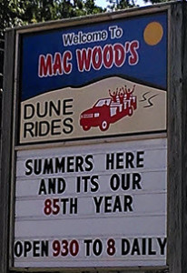 Mac Woods Dune Rides 85th year