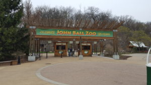 John Ball Zoo Celebrates 125 Years Entrance Sign
